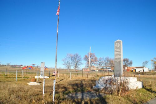 Standing Rock Sioux Reservation school and playground - photograph by C.S. Hagen