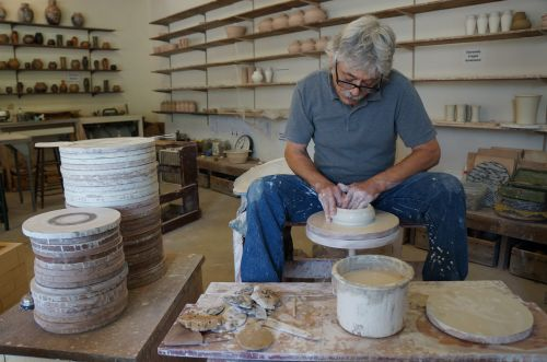 Mineral Point - Frank Polizzi at work - photograph by Alicia Underlee Nelson
