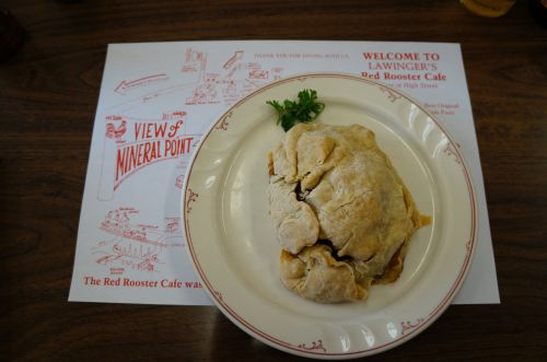 Mineral Point - Pasty at the Red Rooster Cafe - photgraph by Alicia Underlee Nelson