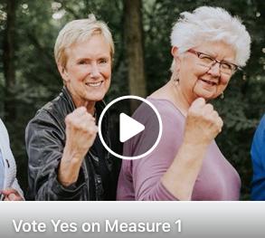 #Badassgrandmas screenshot of a Measure 1 video - Facebook
