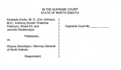 North Dakota Supreme Court petition