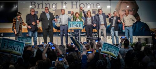 The final Democratic push for North Dakota candidates - photograph by Raul Gomez