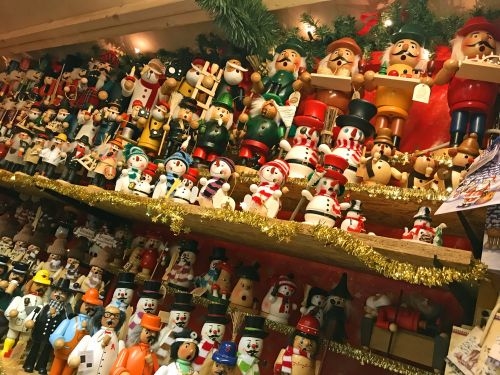Nutcrackers at Weimar christmas market - photography by Alicia Underlee Nelson