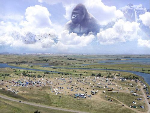Daily intelligence report picture from TigerSwan circulated to law enforcement included this picture of a gorilla overseeing the Standing Rock camps