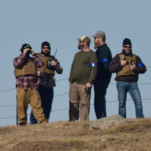 Private security personnel outside Standing Rock - online post