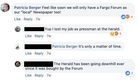 Screenshot of Patricia Berger's Facebook post