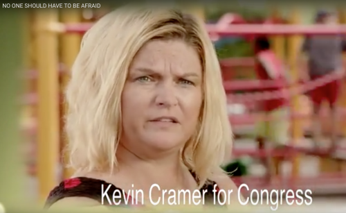 Betty Jo Krenz in then Congressman Kevin Cramer's 2014 campaign ad