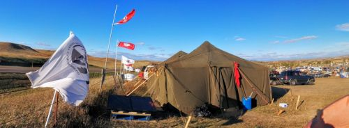 The legal tent at Oceti Sakowin where the Water Protector Legal Collective was born - photograph by Sarah Hogarth