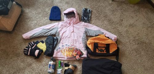 Backpack contents - photograph by Blye Dalluge