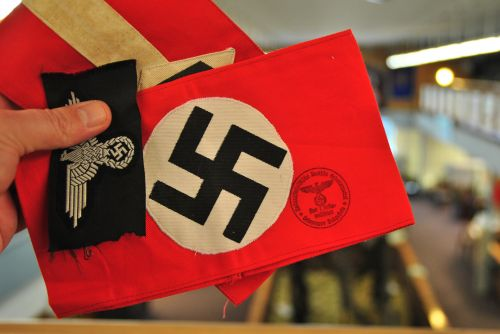 Nazi armband in Valley City, ND - photograph by C.S. Hagen