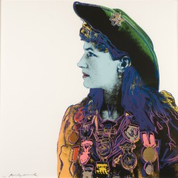 Andy Warhol, Annie Oakley, Silkscreen on paper, 1986, 36 x 36 in., Courtesy of the Cochran Collection. � 2013 The Andy Warhol Foundation for the Visual Arts / Artists Rights Society (ARS), New York.