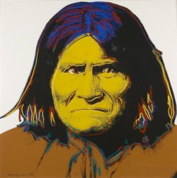 Andy Warhol, Geronimo, Silkscreen on paper, 1981, 38 x 38 in., Courtesy of the Cochran Collection. � 2013 The Andy Warhol Foundation for the Visual Arts / Artists Rights Society (ARS), New York.