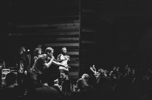 Diane Miller, Kipp G, St. Paul Slim, Chancy York performing in Fargo - photograph by Sean Rider