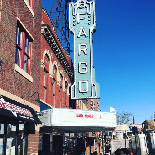 Dark Money movie playing at the Fargo Theater - North Dakotans for Public Integrity's Facebook page