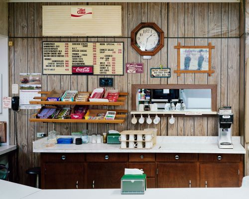 Cafe Hannah, North Dakota - photograph by Lew Ableidinger