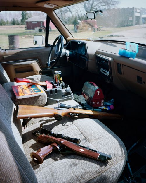 Pickup interior, Centra, North Dakota - photograph by Lew Ableidinger