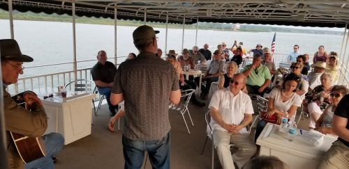 Public reading on the Missouri - photograph by Suzzanne Kelley