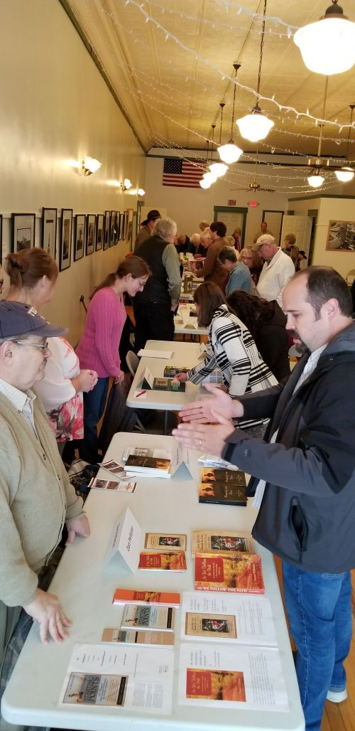 Shopping at Historic Ellendale Opera House Book Festival - photograph by Suzzanne Kelley