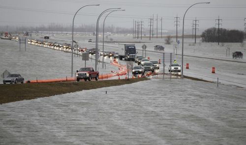 Flooding in the Fargo-Moorhead area - photograph provided by F-M Area Diversion