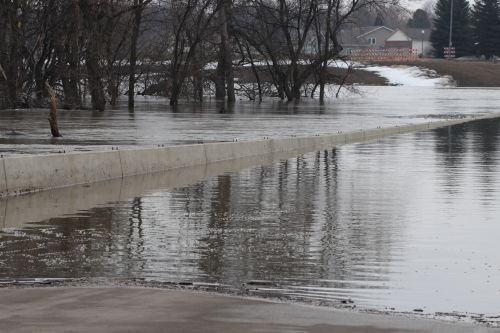 12th Avenue bridge and Jack Williams Stadium are under water - photograph by C.S. Hagen