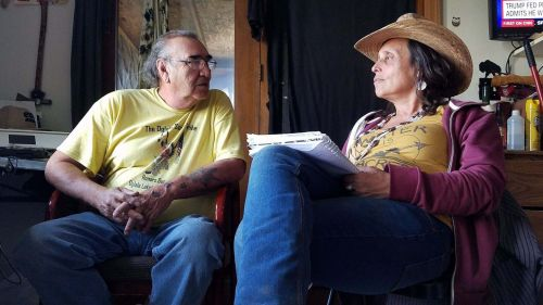 Alex White Plume and Winona LaDuke - photograph by Kristen Tharaldson