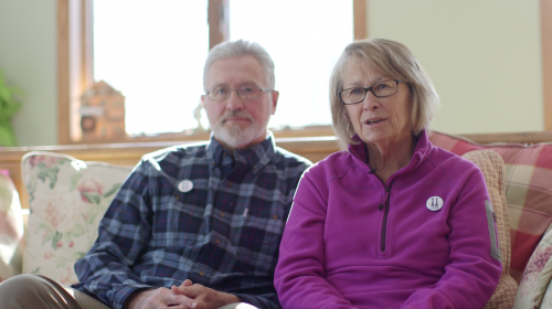 In a scene from the Jacob Wetterling documentary Jerry and Patty Wetterling reflect on the day they learned of Jacob's fate - photograph by Chris Newberry