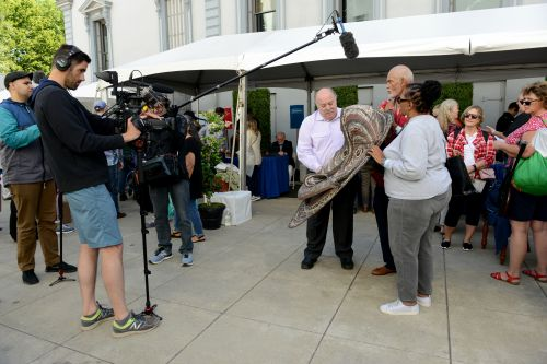 Taping of an item being appraised at the ANTIQUES ROADSHOW production event on Monday, May 13, 2019 at the Crocker Art Museum in Sacramento CA. -  photograph by Meredith Nierman for WGBH 2019