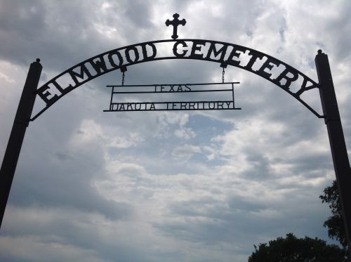 Texas Town Cemetery sign - photograph provided by South Dakota Public Broadcasting producer Stephanie Rissler