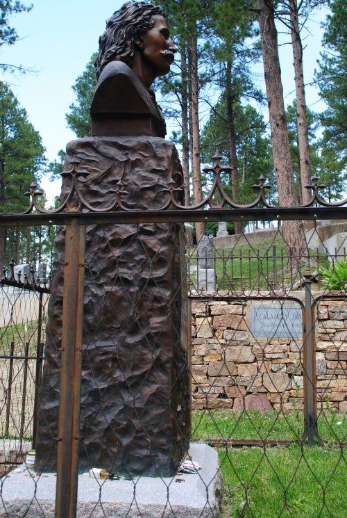 Wild Bill Hickock's gravesite next to Calamity Jane in Deadwood - photograph by C.S. Hagen