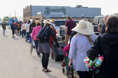 Lines for the Antiques Roadshow began at 6 a.m. at Bonanzaville on June 1, 2019 - photograph by C.S. Hagen