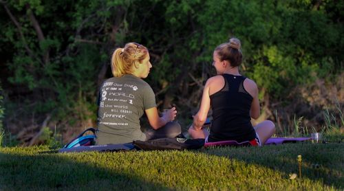 Yoga on the Farm - photograph provided by Mara Solberg