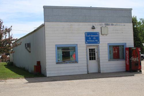 In the family for two generations the T& V Grocery in Pettibone is one of the last of its kind in North Dakota - photograph by C.S. Hagen