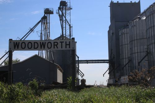 Welcome to Woodworth - photograph by C.S. Hagen