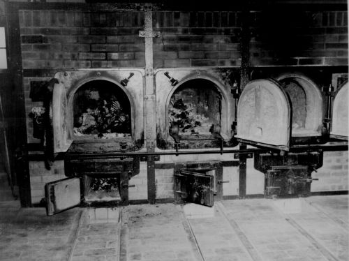 Concentration camp ovens with female human remains - the National Archives