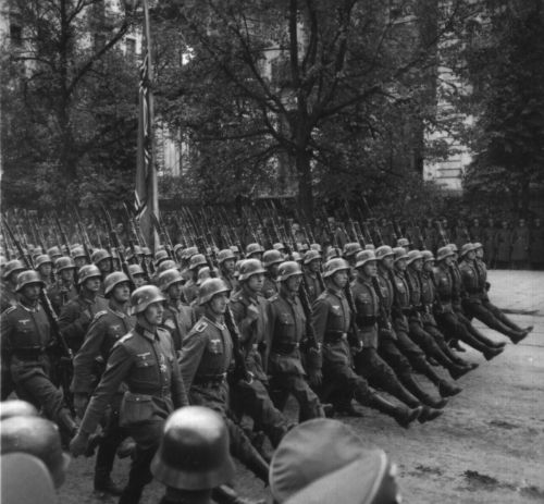 Nazi soldiers marching - the National Archives