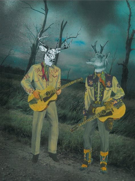 Where the deer and the antelope play - artwork by Sabrina Hornung