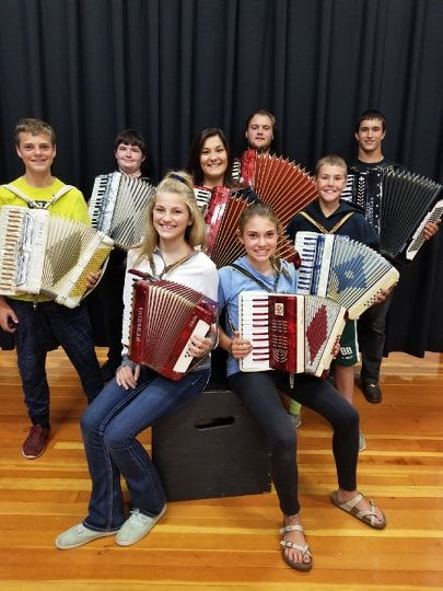 Accordion class of 2018 - photograph provided by Janet Laymon Wolff