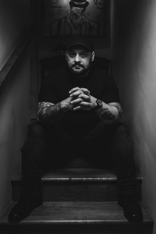 Christian Picciolini a former violent extremist Nazi now fighting to help them leave speaks with HPR - photograph by Peter Tsai