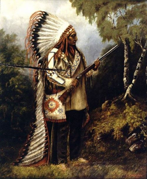 Sitting Bull portrait by Caroline Weldon 1890