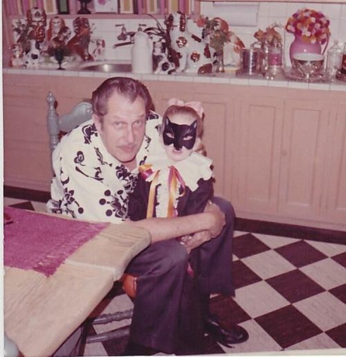 Victoria Price with her father Vincent Price