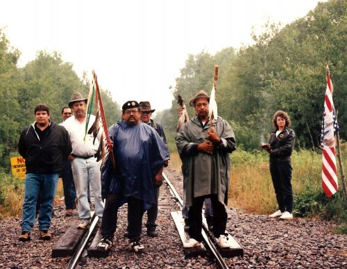 Butch Stone et all - photograph provided by Winona LaDuke