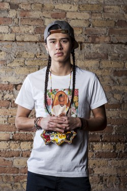 Frank Waln, performing at Sing Our Rivers Red event on Feb. 9