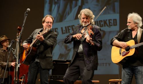 John McEuen & The String Wizards performing - photograph provided by John McEuen
