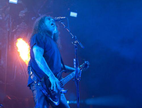 Slayer's Tom Araya - photograph by Sabrina Hornung
