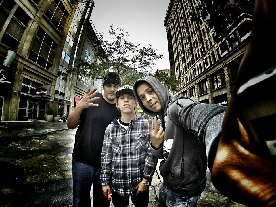 Aaron Sean Turgeon 'Prolific the Rapper' (right) - Facebook page