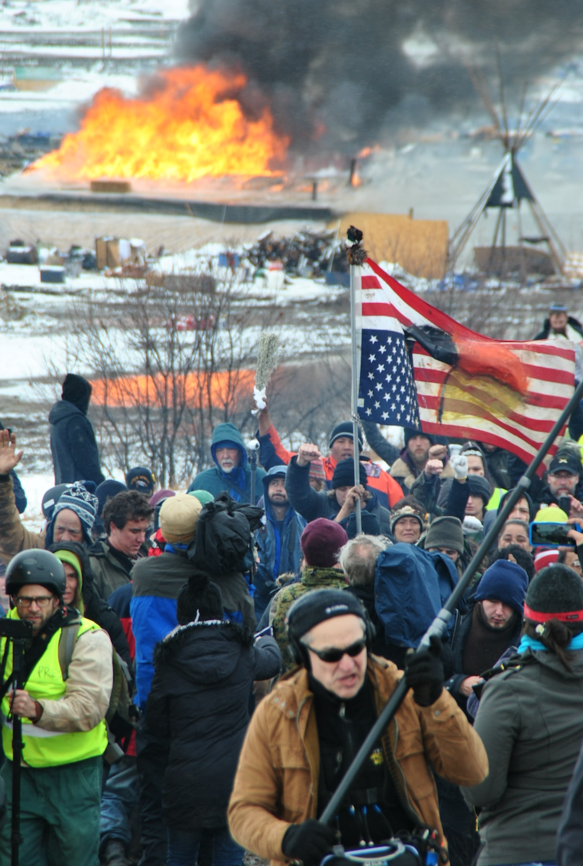 Eviction Day at the camps outside of Standing Rock - photo by C.S. Hagen