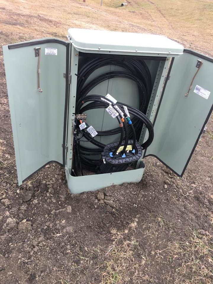 Fiber optic box broken into near Standing Rock - photo provided by Lisa Ling