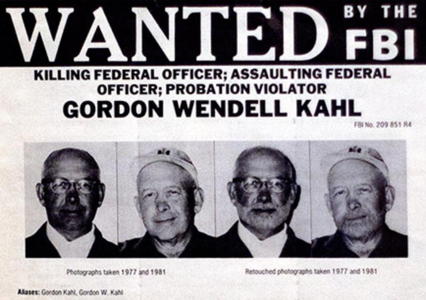 Gordon Wendell Kahl FBI Wanted Poster