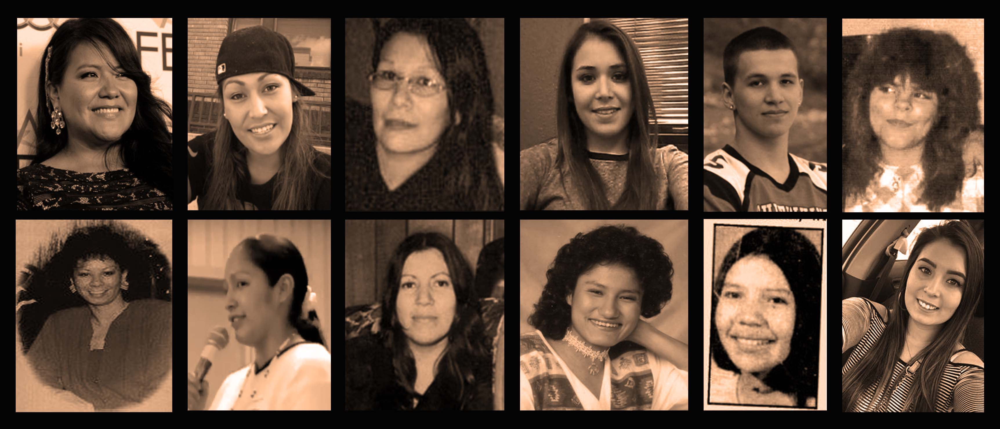 Pictures of only a handful of the missing and murdered Indigenous women, many of whom are from Standing Rock