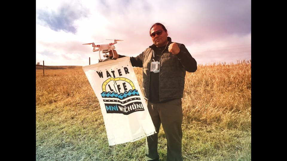 Myron Dewey with drone, all charges against him were dropped earlier this week - Facebook page
